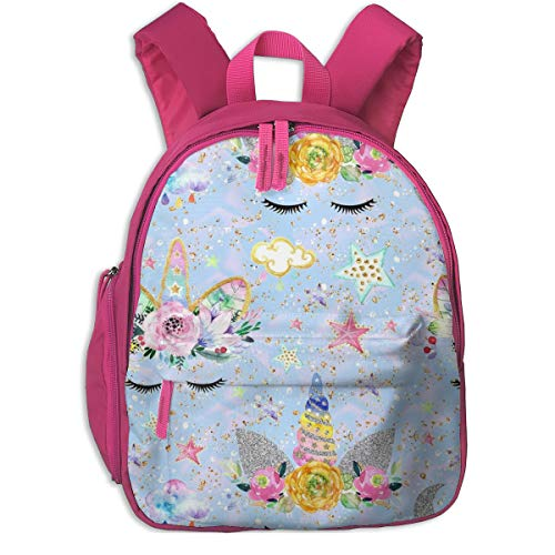 Mochila Infantil niña,Unicorn Confetti Aqua Glitter_3330 -
