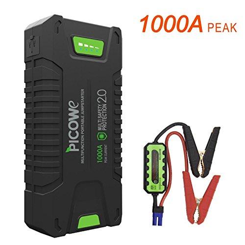 Picowe Arrancador de Vehículos Baterías, 20000mAh 12V 1000A en el Momento...