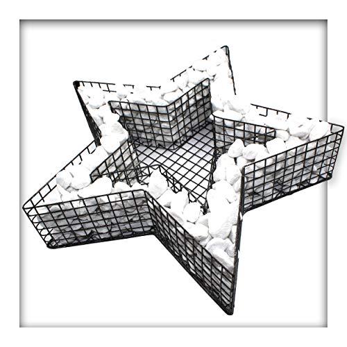 Stern Gitter Pflanzschale 8 cm Hoch Gabione Garten Grabschmuck mit Kies