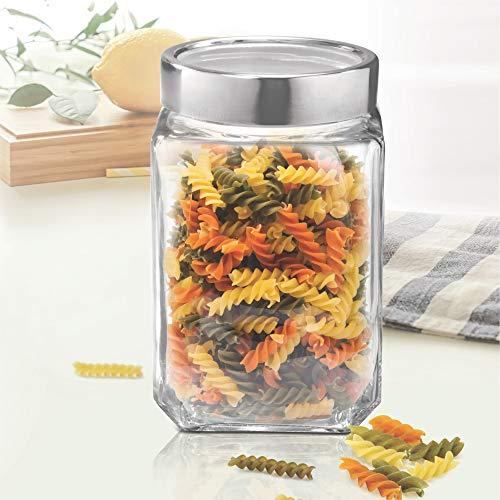 Treo By Milton Cube Storage Glass Jar, 1000 ml, 1 Pc