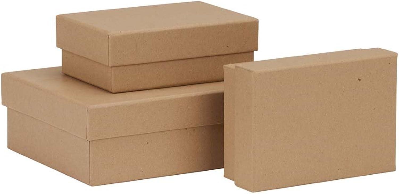 Rössler Papier - - Boxline Kraft - 3er Satz rechteckig (12) B07CX8QZ83  | Genial Und Praktisch