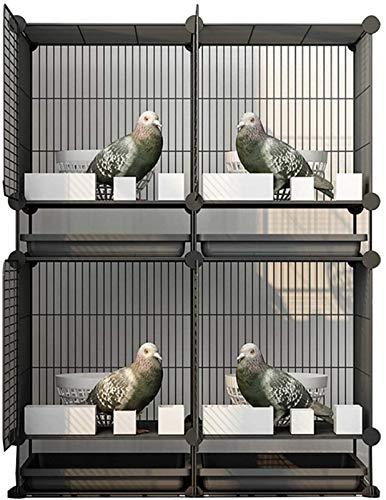 Gabbia per uccelli durevole e rispettosa dell'ambi Gabbia di volo per parrocchietti Pappagallo gabbie per grandi uccelli, grandi gabbie di piccioni per uso domestico, tettoi di uccelli combinati in fe