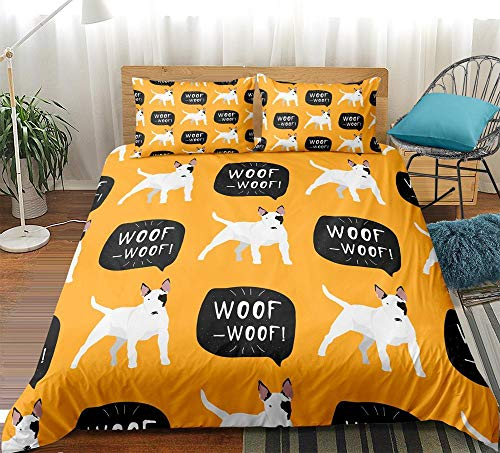 Gvvseso Printed Comforter Set double Cartoon animal dog with 2 Pillow Sham - Luxurious Brushed Microfiber - Down Alternative Comforter - Soft and Comfortable - Machine Washable 200 x 200 cm -Adult b