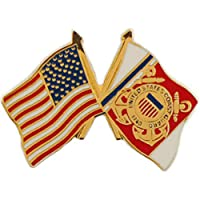 U.S. COAST GUARD, Cross Flag USA - Original Artwork, Expertly Designed PIN - 1""