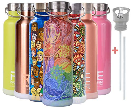 Rehydrate Pro Zen 25oz Insulated Vacuum Stainless Steel Water Bottle Flask -Compatible to Contigo...