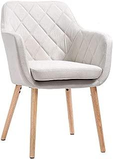NMDB Simple Moderne Bois Massif Europeen Chaise Salle Manger Home Study Chair Seul Loisir Cafe Chaise Retour Bureau Chaise Balcon Creative Chair  Couleur Blanc  Taille