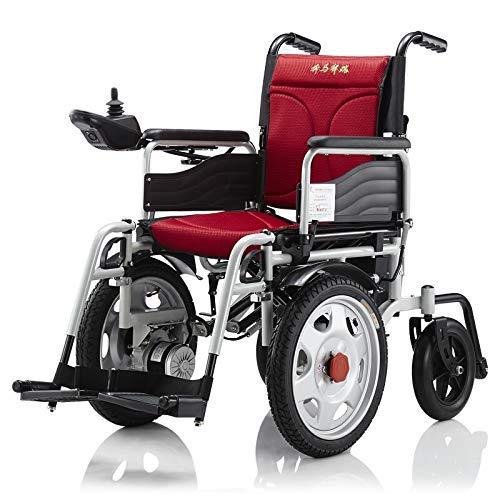 GJJSZ Plegable Power Compact Mobility Silla de Ruedas, Silla de Ruedas eléctrica Ligera Scooter médico portátil 🔥