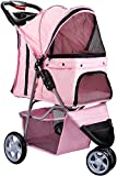 Paws & Pals Dog Stroller - Pet Strollers for Small Medium Dogs & Cats - 3 Wheeler Elite Jogger - Carriages...