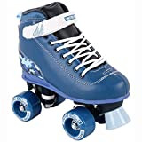 United Skates Vibe Camo Blue Semi-Soft Kids Recreational Roller Skates - Ideal Beginner Roller Boots for Boys. Suitable for Both Indoor and Outdoor Use