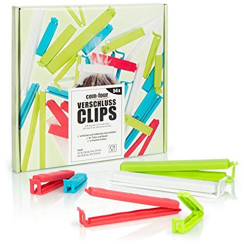 com-four® 54x Clips de Cierre de plástico - Clips de Cierre en...