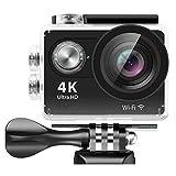 Sendowtek Action Kamera 4K, Action Cam WiFi Wasserdicht Helmkameras Motorrad Kamera mit...