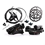 Mountain Bike Disk Brake Set G3/ HS1 Bicycle Disc Brake Kit Front and Rear 160mm Caliper Rotor with Bolts and Cable (HS1 A Disc Brake Set)