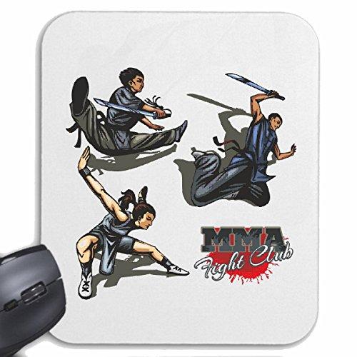 Tapis de souris Mousepad (Mauspad) FIGHTER MMA ARTS IMPORTANTS MIXTES Fightclub STREET FIGHT BOXE KARATE KICK BOXING JUDO pour votre ordinateur portable, ordinateur portable ou PC Internet .. (avec W