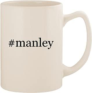 #manley - White Hashtag 14oz Ceramic Statesman Coffee Mug Cup
