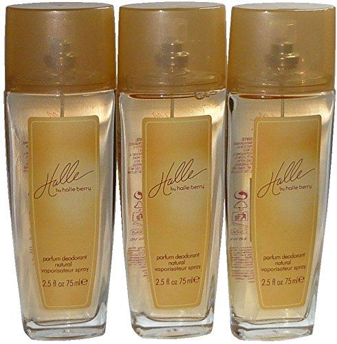 Halle Berry Halle Deodorant Natural Spray 75 ml (3-er Pack = 225 ml)