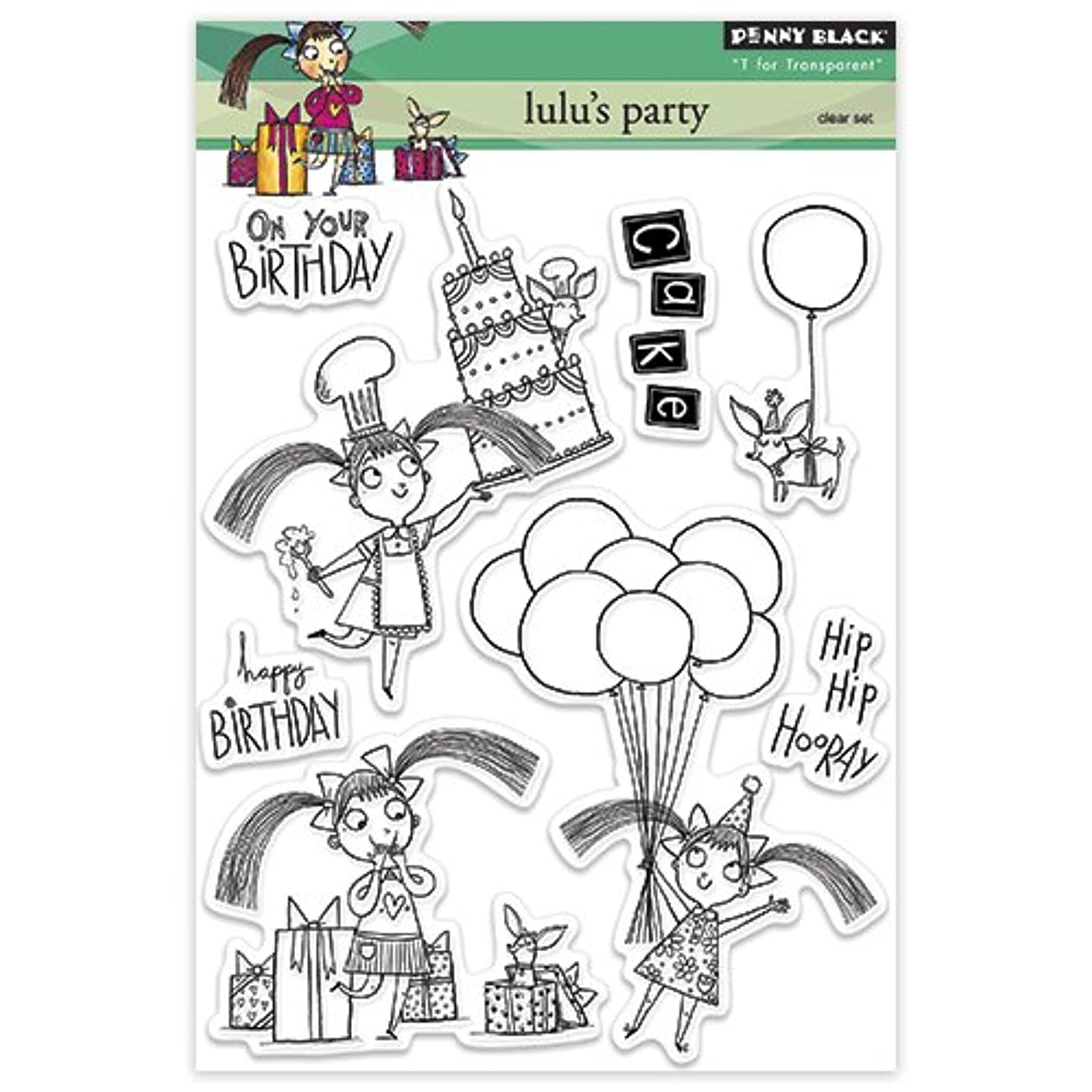 Penny Black Decorative Rubber Stamps, Lulu's Party
