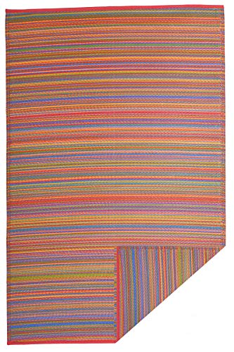 Fab Hab - Cancun - Multifarben - Teppich/ Matte für den Innen- und Außenbereich (120 cm x 180 cm)