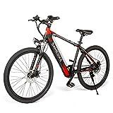 Coolautoparts Bicicleta Eléctrica 250W 30km/h de 26 Pulgadas Hombres Adultos/Bicicleta de Montaña Carretera/e-Bike 36V 8AH Batería de Litio Shimano 7 Velocidades Frenos de Disco [EU Stock]