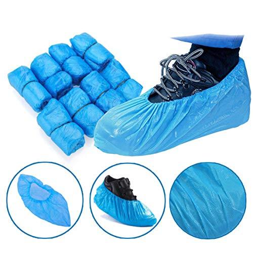 DK-tre Einweg-Schuhüberzieher aus Kunststoff, wasserfest, schmutzfest, Blau, 100 Stück 1 Gram Plastic Shoe Sleeve 100 / Bag