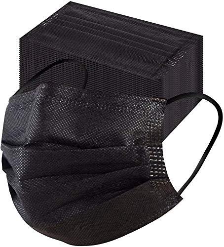 Mimagogo 50 Stücke Einweg Erwachsene mund und Nasenschutz, Mundbedeckung Atmungsaktive Staubschutz Bandana Frauen männlich Staubdicht Multifunktional Halstuch (z-schwarze)