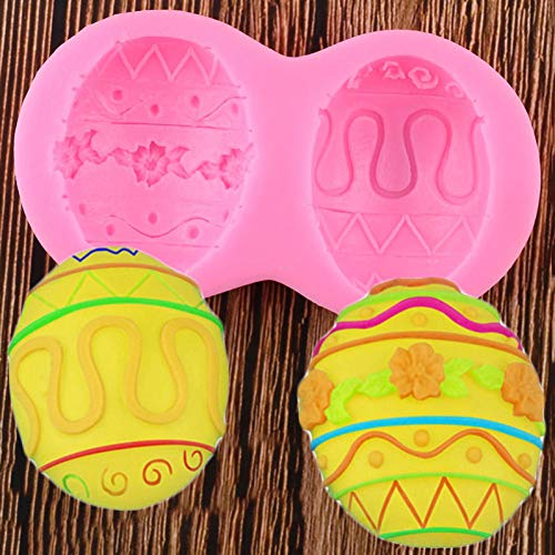 UNIYA 3D Silicone Fondant Molds Easter Eggs Cake Decorating Tools Candy Clay Chocolate Moulds DIY Cake Baking Mould