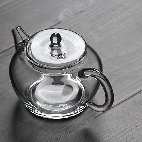 zvcv Tarro de Agua de Vidrio Olla pequeña de Vidrio de Estilo japonés Mini Tetera de Flores de Vidrio de Agua fría de Alta Temperatura Tetera de Cocina casera Juego de té de Kungfu 140Ml