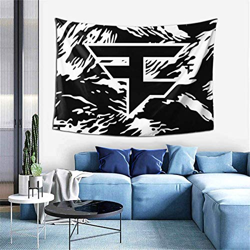 shenguang Wall FA-ze Cl-an Logo Tapestries Funny Colorful Garden Tapestries for Bedroom, Living Room, Bar Interior Decoration 60×40in