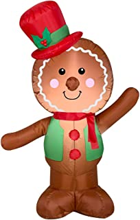 Holiday Time Christmas Inflatable LED Gingerbread Man Airblown Decoration by Gemmy