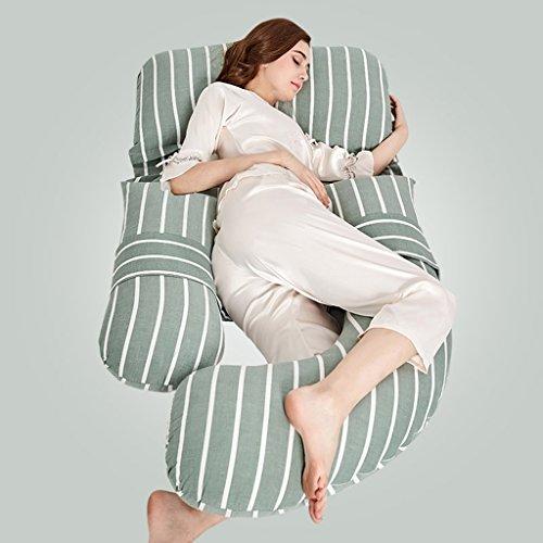 Ai Xin Shop Ganzkörper-Schwangerschaft-Kissen - U-förmige hypoallergen Mutterschaft Unterstützung Kissen für Schwangere und Pflege Frauen (Farbe : Grün)