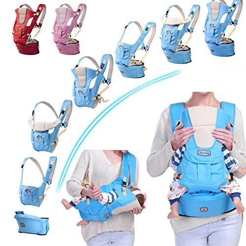 Bureze Porte-bébé 7 en 1 réglable pour bébé et bébé Respirant Ergonomique Wrap Sac à Dos