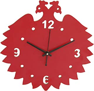 """pranali enterprise Roman Numerals Modern Round Analog Wall Clock for Home, Office or Cafe (11"""" inch, Red) (Red 1) (Red 1)"""