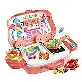 woyaochudan Step2 Spielküche, tragbares Pinic Basket Toys, Kinderkochen Pretend Toys, Spielkochset, Kinderspielrolle Spielzeugzubehör für Kinder Kleinkinder Mädchen Jungen Geburtstag