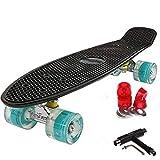 FunTomia Kinder Skateboard Cruiserboard Miniboard 57cm mit oder ohne LED Leuchtrollen Alu Truck...