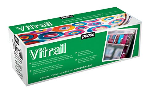 Pebeo Vitrail, Set of 10 Assorted Stained Glass Effect...