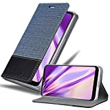 Cadorabo Hülle für LG K50 in DUNKEL BLAU SCHWARZ - Handyhülle mit Magnetverschluss, Standfunktion & Kartenfach - Hülle Cover Schutzhülle Etui Tasche Book Klapp Style