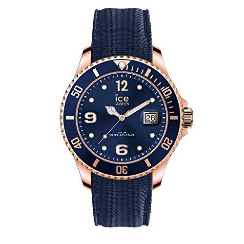 Ice-Watch - ICE steel Blue rose-gold - Blaue Herrenuhr mit Metallarmband - 017665 (Large)
