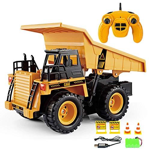 LHTY Fernbedienung Kipper Spielzeug, voll funktionsfähige RC Hubwagen, Baufahrzeug elektronisches Spielzeug Spiel für Jungen Kinder 6 Jahre alt
