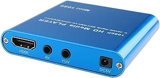 ORIGIN 極小型マルチメディアプレーヤー 日本語 英語 1080P再生可能 HDMI、AV出力 SDカード USB HDD映像データー簡単再生MP200 (ブルー) [並行輸入品]