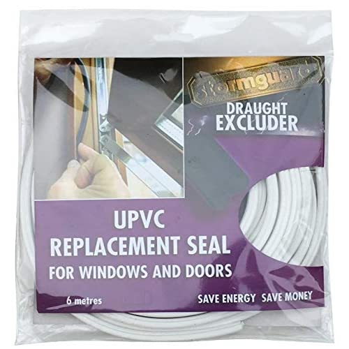 PUSH FIT UNIVERSAL WHITE  GASKET UPVC DOOR WINDOW REPLACEMENT RUBBER BUBBLE SEAL