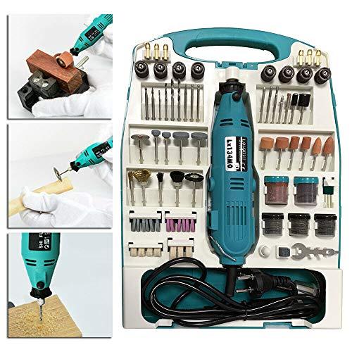 Ouhigher Mini Schleifer Schleifmaschine 226 teilig Winkelschleifer Set inklusive Koffer Handschleifer Multischleifer Multitool Rotary Drill Grinder Schleifen Werkzeug