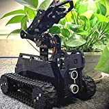 Gewbot DIY Robot Model Kit for Raspberry Pi 4/3 Model B+/B WiFi Wireless Smart Robot Car Kit with 4-DOF Robotic Arm/OpenCV Target Tracking/Video Transmission Rasptank Robotic Kit with PDF