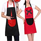 Delantales para parejas 2 piezas Cute Cartoon Adult Kitchen Home , 2 pcs