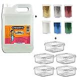 Cléopâtre CT2L-PAILL2 - Lote de 2 kg de pegamento transparente + 6 tubos de lentejuelas + cajas de almacenamiento