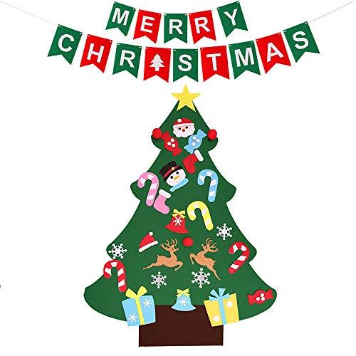 MIFXIN Lot de 26 décorations de Noël amovibles en feutre pour sapin de Noël à suspendre au mur ou à une porte