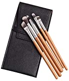 DHTOMC Cepillos de Maquillaje Conjunto de 5 Mango de Fibra de bambú Principiante Conjunto Completo de Pinceles Kit de Pinceles de Maquillaje, marrón Profesional-OneSize Xping