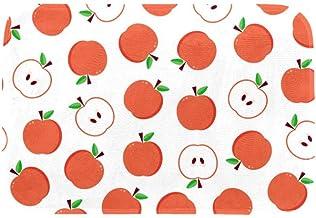 EGGDIOQ Doormats Apple Pattern Custom Print Bathroom Mat Waterproof Fabric Kitchen Entrance Rug, 23.6 x 15.7in