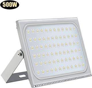 500W LED Flood Light, Horypt 40000LM 6000-6500K (Cold White) IP67 Waterproof Super Bright Outdoor Floodlight for Garden Yard, Lawn, Playground, Basketball Court