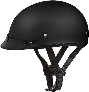 Daytona Helmets Motorcycle Half Helmet Skull Cap- Dull Black 100% DOT Approved