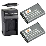 DSTE Replacement for LI-60B 2 Pack Battery + DC16 Travel and Car Charger Adapter Compatible Olympus FE-370 Pentax M50 W60 W80 V20 Nikon Coolpix S550 S560 Ricoh R50 as EN-EL11 DB-80 D-LI78
