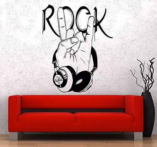 Música pop pared vinilo música computadora rock logo decoración